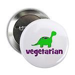 "Vegetarian - Dinosaur 2.25"" Button (100 pack)"