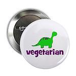 "Vegetarian - Dinosaur 2.25"" Button (10 pack)"
