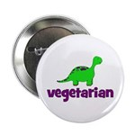 "Vegetarian - Dinosaur 2.25"" Button"