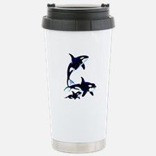 Killer Whale Family Stainless Steel Travel Mug