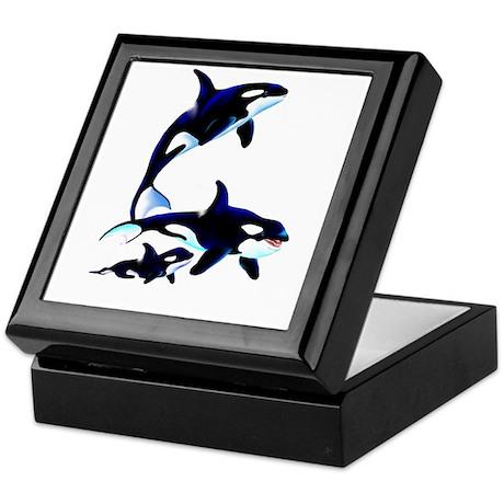 Killer Whale Family Keepsake Box