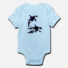 Killer Whale Family Infant Bodysuit