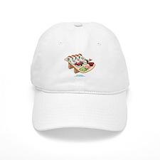 Kawaii California Roll and Sushi Nigiri Baseball Cap
