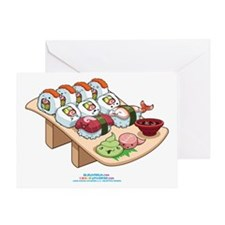 Kawaii California Roll and Sushi Nigiri Greeting C
