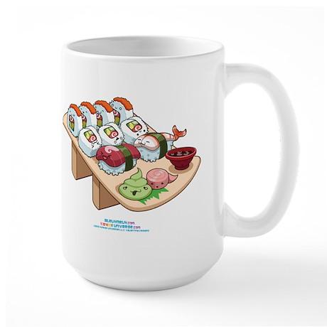 Kawaii California Roll and Sushi Nigiri Large Mug