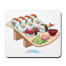 Kawaii California Roll and Sushi Nigiri Mousepad