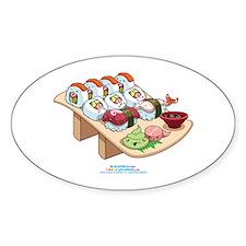 Kawaii California Roll and Sushi Nigiri Decal
