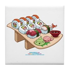 Kawaii California Roll and Sushi Nigiri Tile Coast