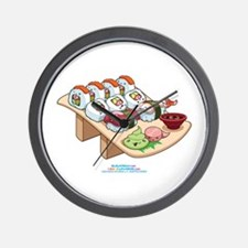 Kawaii California Roll and Sushi Nigiri Wall Clock
