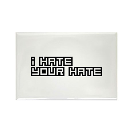I Hate Your Hate Rectangle Magnet