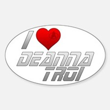 I Heart Deanna Troi Sticker (Oval)