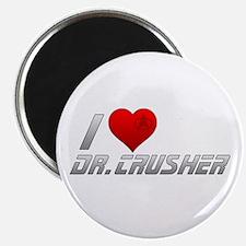 I Heart Dr. Crusher Magnet