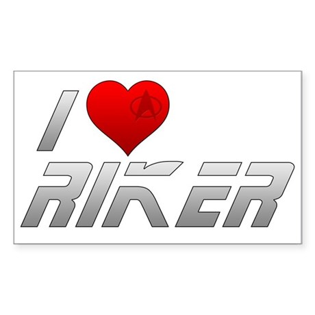 I Heart Riker Sticker (Rectangle)