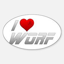 I Heart Worf Sticker (Oval)