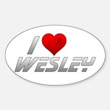 I Heart Wesley Decal