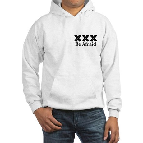 Be Afraid Logo 12 Hooded Sweatshirt Design Front P