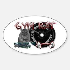 Gym rat Sticker (Oval)