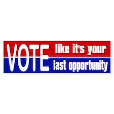 2012 Election Vote Bumper Sticker