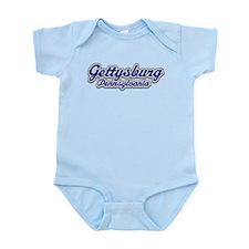Retro Gettysburg PA Infant Bodysuit
