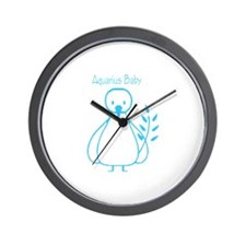 Aquarius Baby Wall Clock