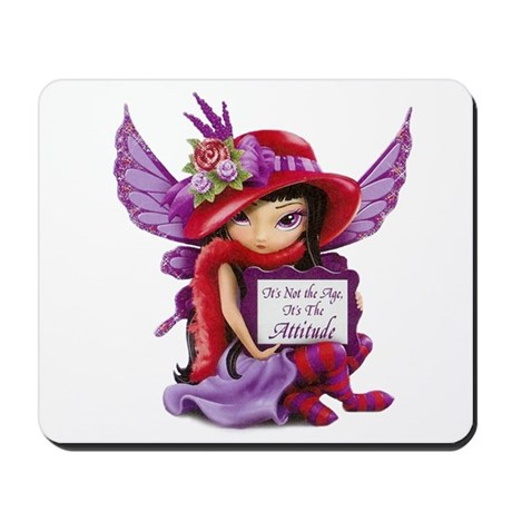 Red Hat Society Fairy Mousepad