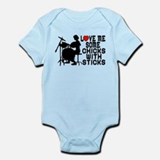 Chicks With Sticks Infant Bodysuit