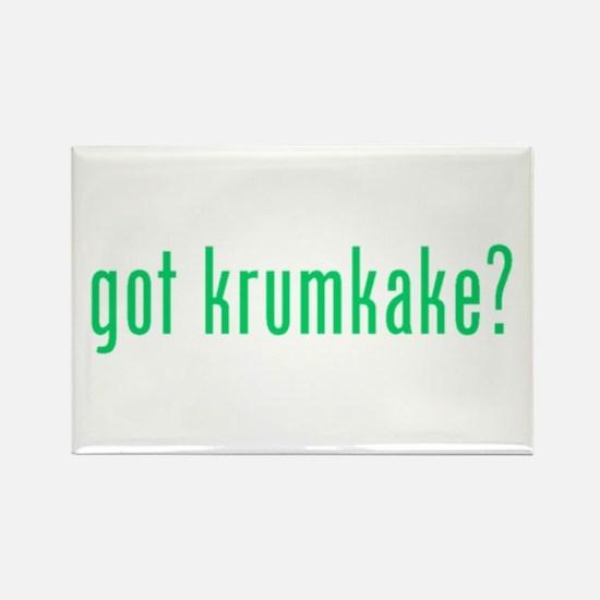 got krumkake? (green) Rectangle Magnet