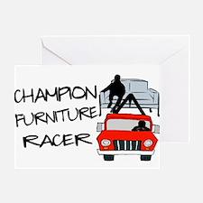 Champion Furniture Racer Greeting Card