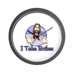 Bribe Jesus Wall Clock