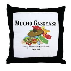 Mucho Gassyass Throw Pillow