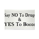 Yes To Booze Rectangle Magnet (100 pack)