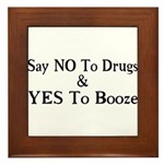 Yes To Booze Framed Tile