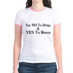 Yes To Booze Jr. Ringer T-Shirt