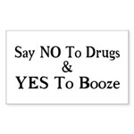 Yes To Booze Sticker (Rectangle)
