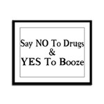 Yes To Booze Framed Panel Print