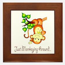 Just Monkeying Around... Framed Tile