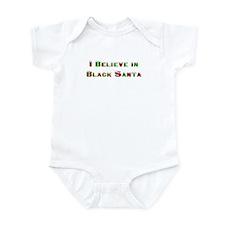 I believe in black santa Infant Creeper