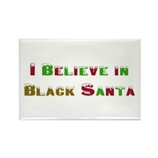 I believe in black santa Rectangle Magnet