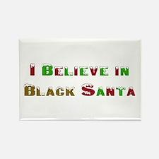 I believe in black santa Rectangle Magnet