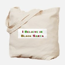 I believe in black santa Tote Bag