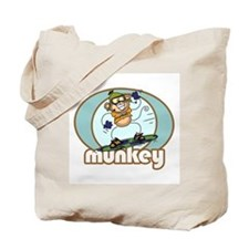 Snow Munkey Monkey Tote Bag
