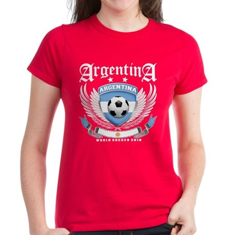 Argentina 2010 World Soccer Women's Dark T-Shirt