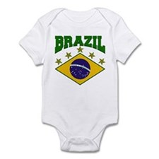 Brazil Soccer Flag 2010 Infant Bodysuit