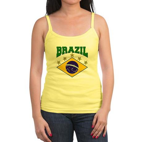 Brazil Soccer Flag 2010 Jr. Spaghetti Tank