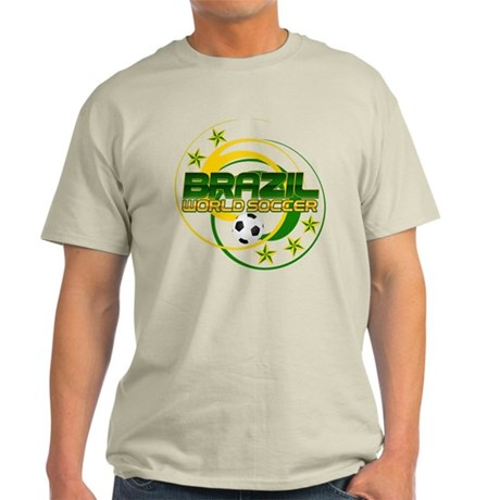 Brazil 5 Star World Soccer Light T-Shirt