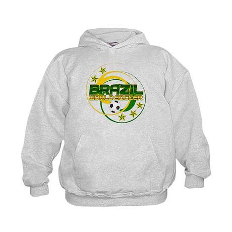 Brazil 5 Star World Soccer Kids Hoodie