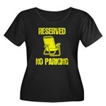 Reserved Parking Women's Plus Size Scoop Neck Dark