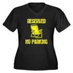 Reserved Parking Women's Plus Size V-Neck Dark T-S