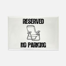 Reserved Parking Rectangle Magnet