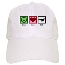 Peace Love Birds Baseball Cap